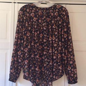 Loft floral navy blouse.